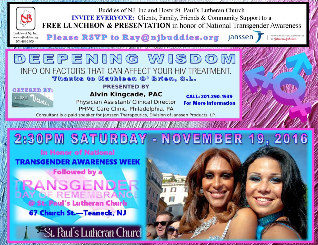 Transgender Awareness Week Flyer